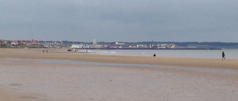 Bridlington in the Distance